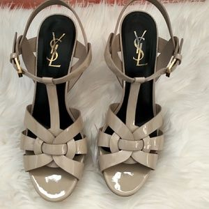 💯Authentic YSL T-Strap Tribute Platform Sandal